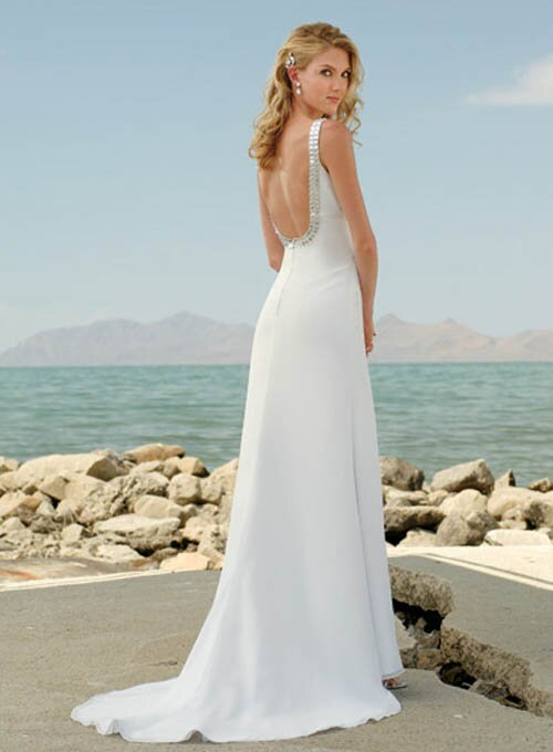 Casual beach wedding dresses Photo - 11
