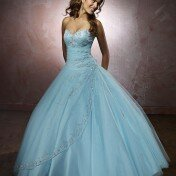 Light blue wedding dress Photo - 1