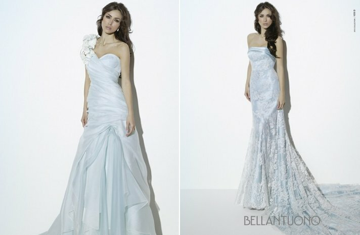 Light blue wedding dress Photo - 3