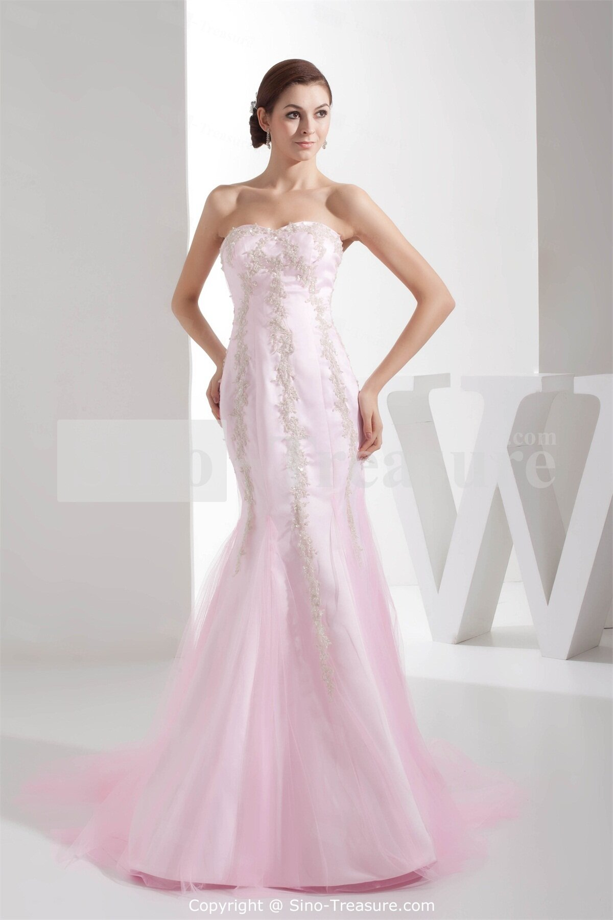 dazzling and elegant light pink wedding dress pictures ideas