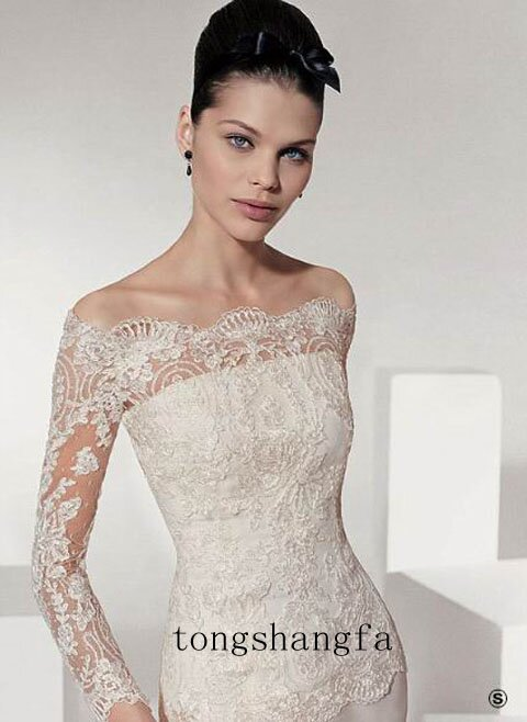Long sleeve lace wedding dresses Photo - 14