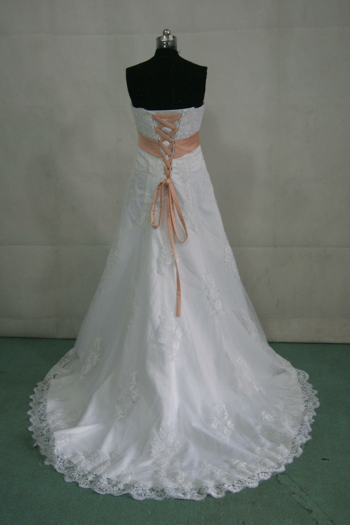 Peach wedding dress to bring out the glimpses in your for When to buy wedding dress