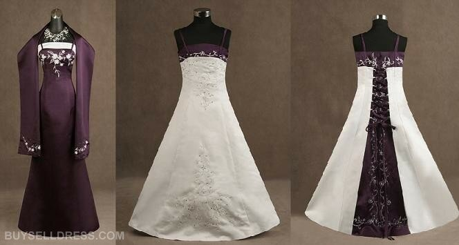 Purple and white wedding dresses Photo - 10