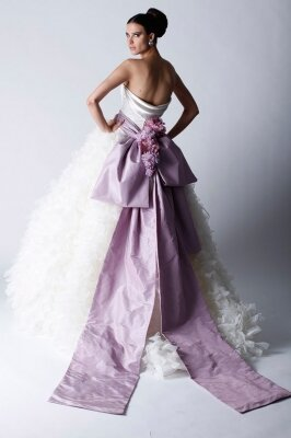 Purple and white wedding dresses Photo - 14