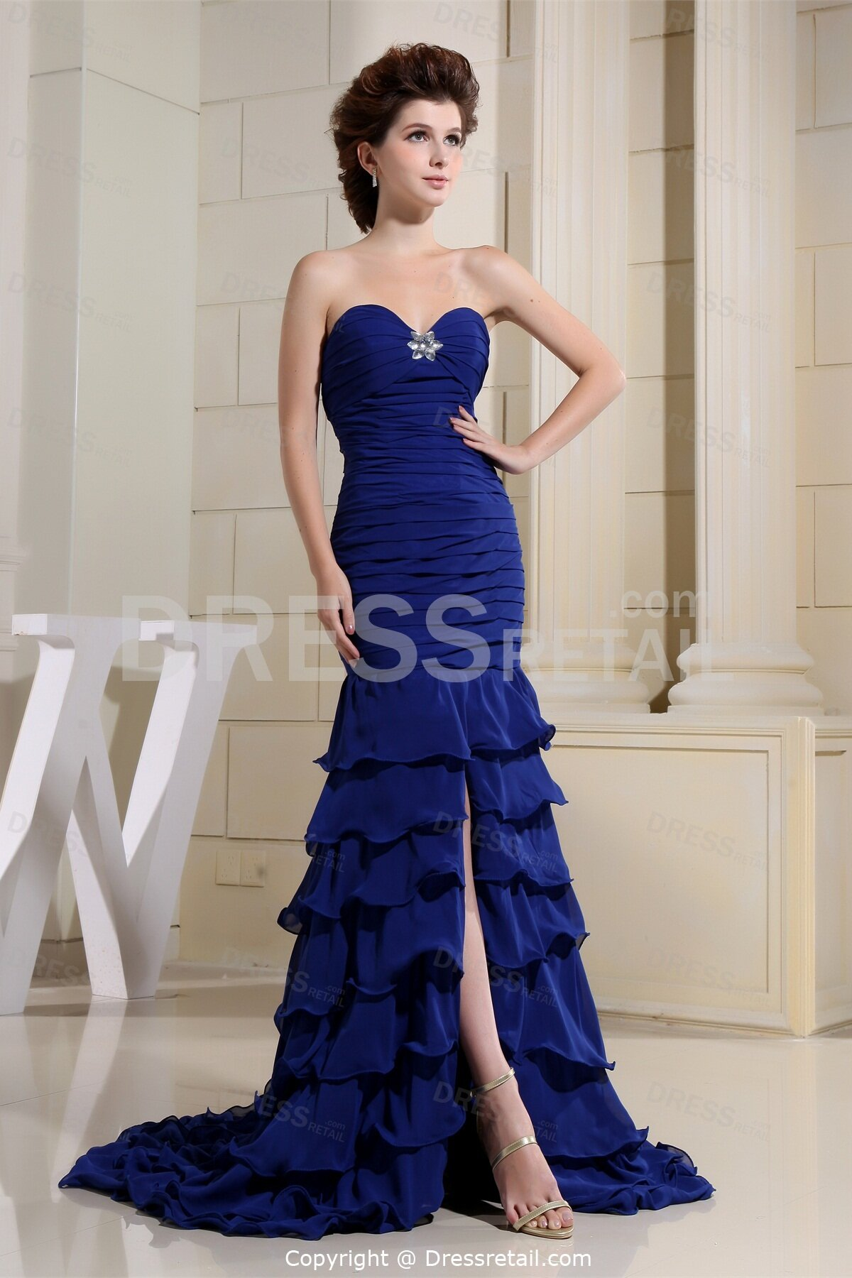 Royal blue wedding dresses Photo - 6