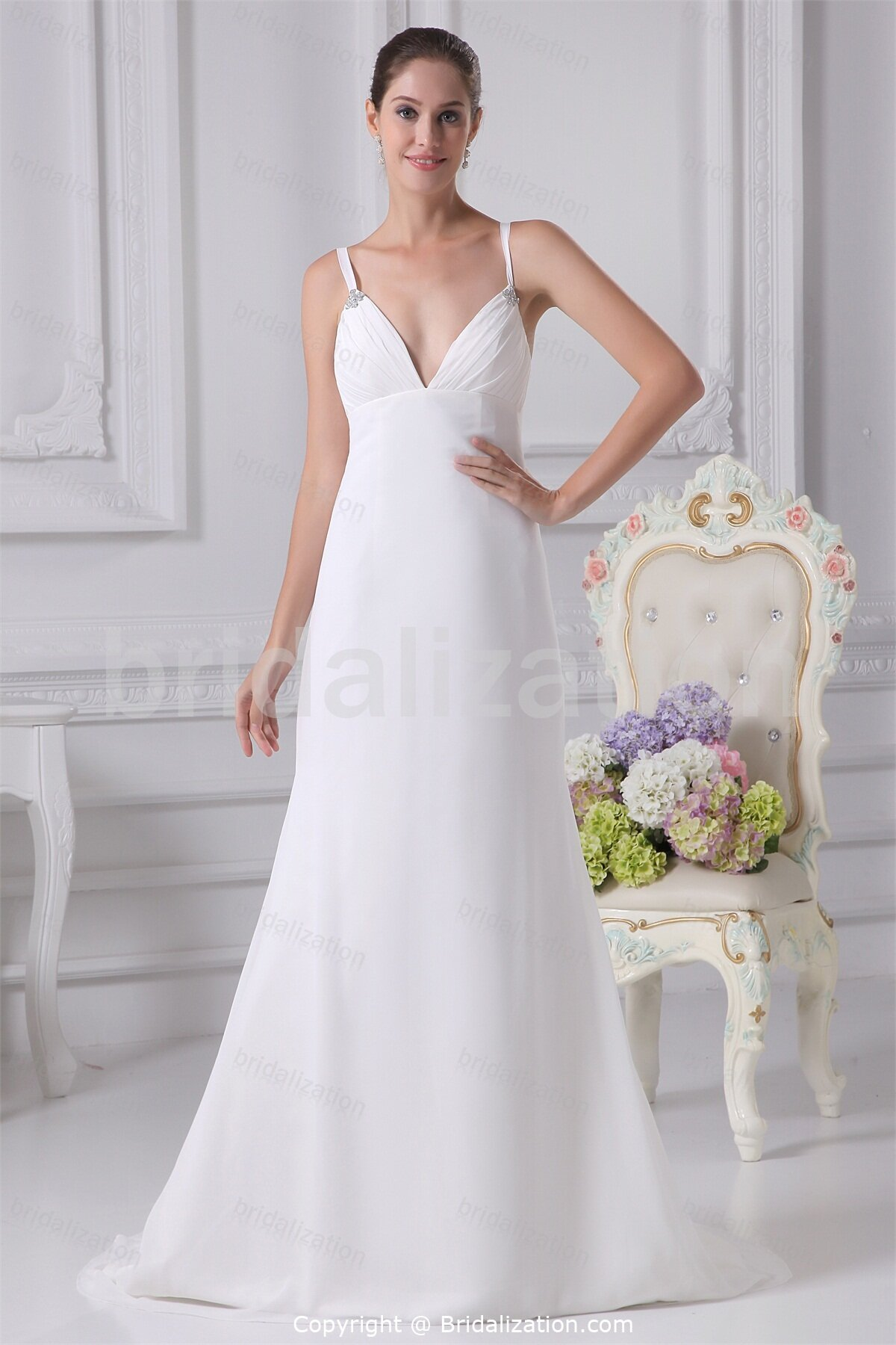 Wedding Dresses  With Straps : Don t shy away show those shoulders on your wedding day