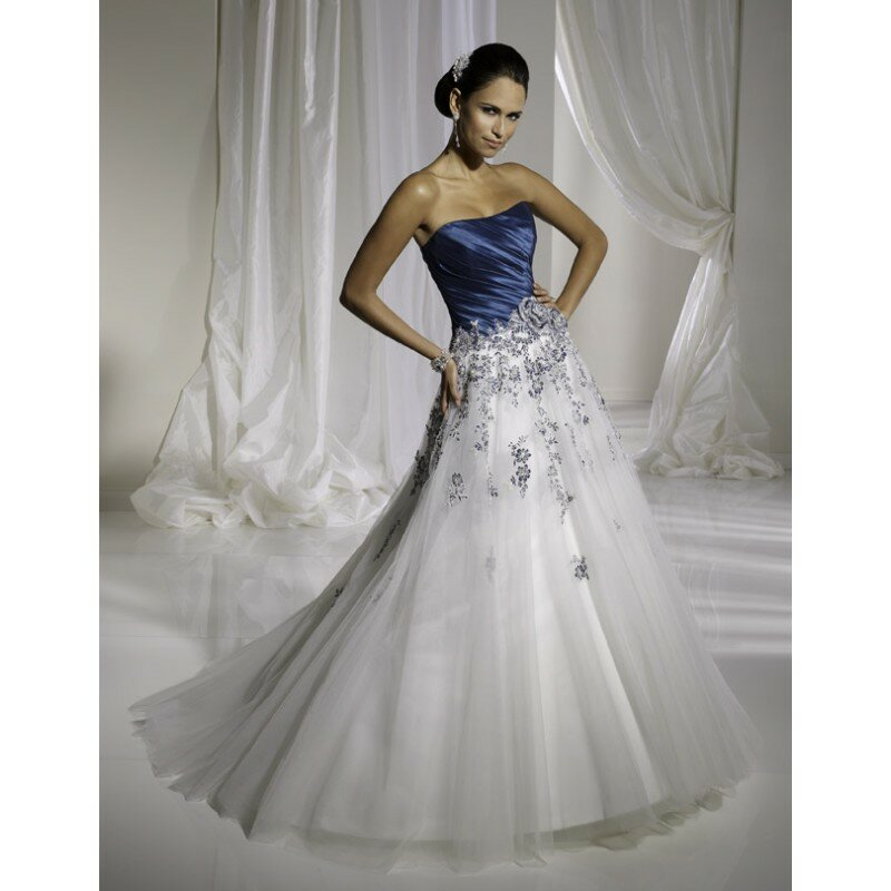 A blue wedding dresses Photo - 9
