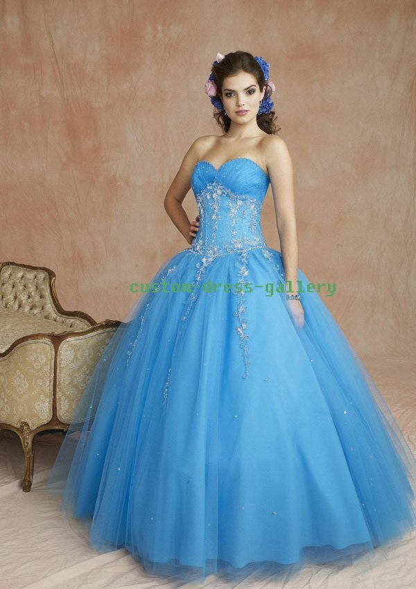 A blue wedding dresses Photo - 10