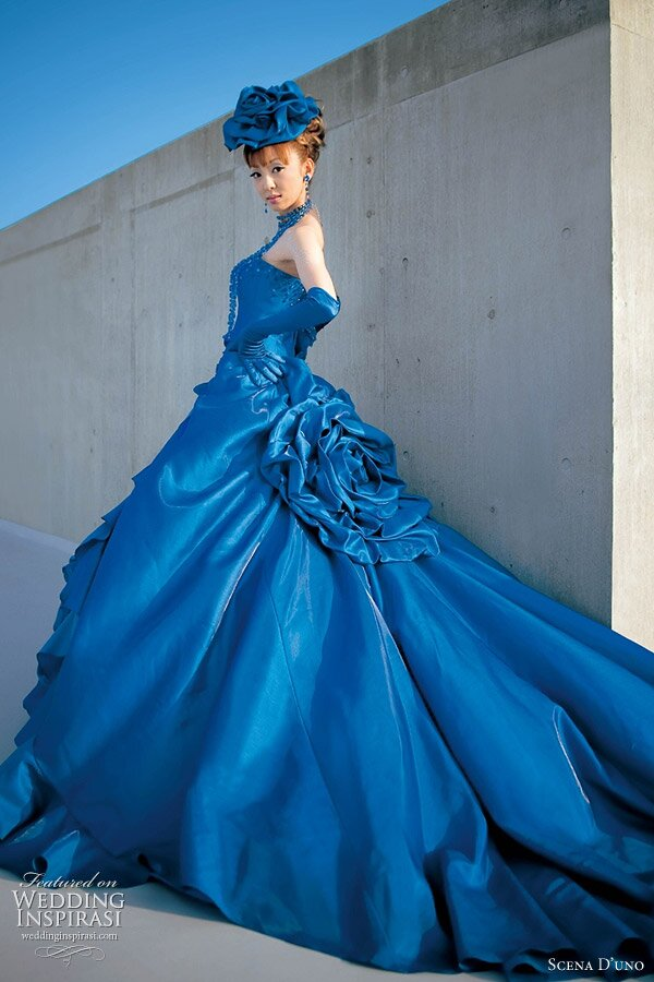 A blue wedding dresses Photo - 1