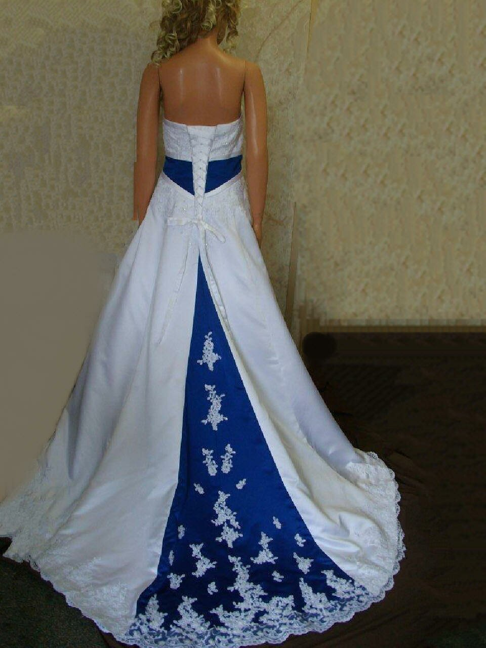 A blue wedding dresses Photo - 2
