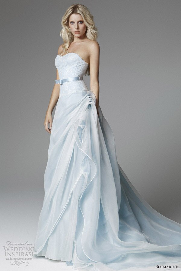 A blue wedding dresses Photo - 3