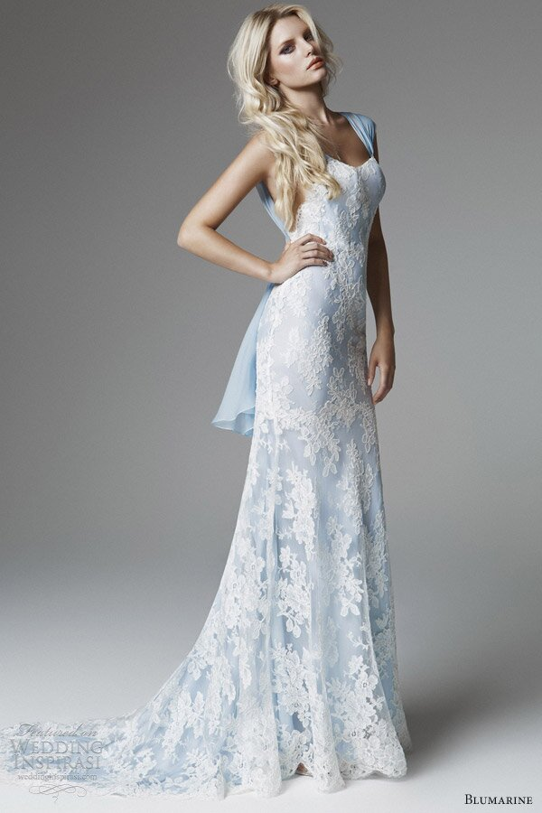 A blue wedding dresses Photo - 4