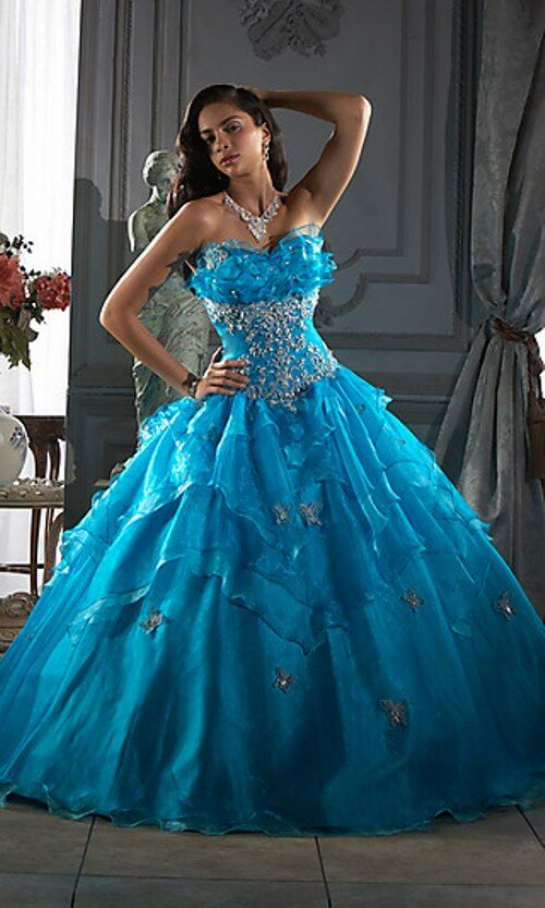 A blue wedding dresses Photo - 5