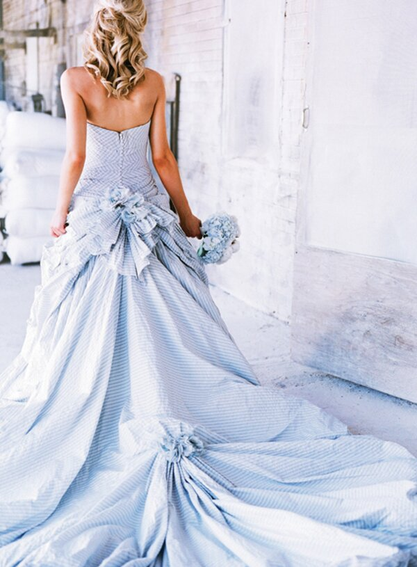A blue wedding dresses Photo - 7