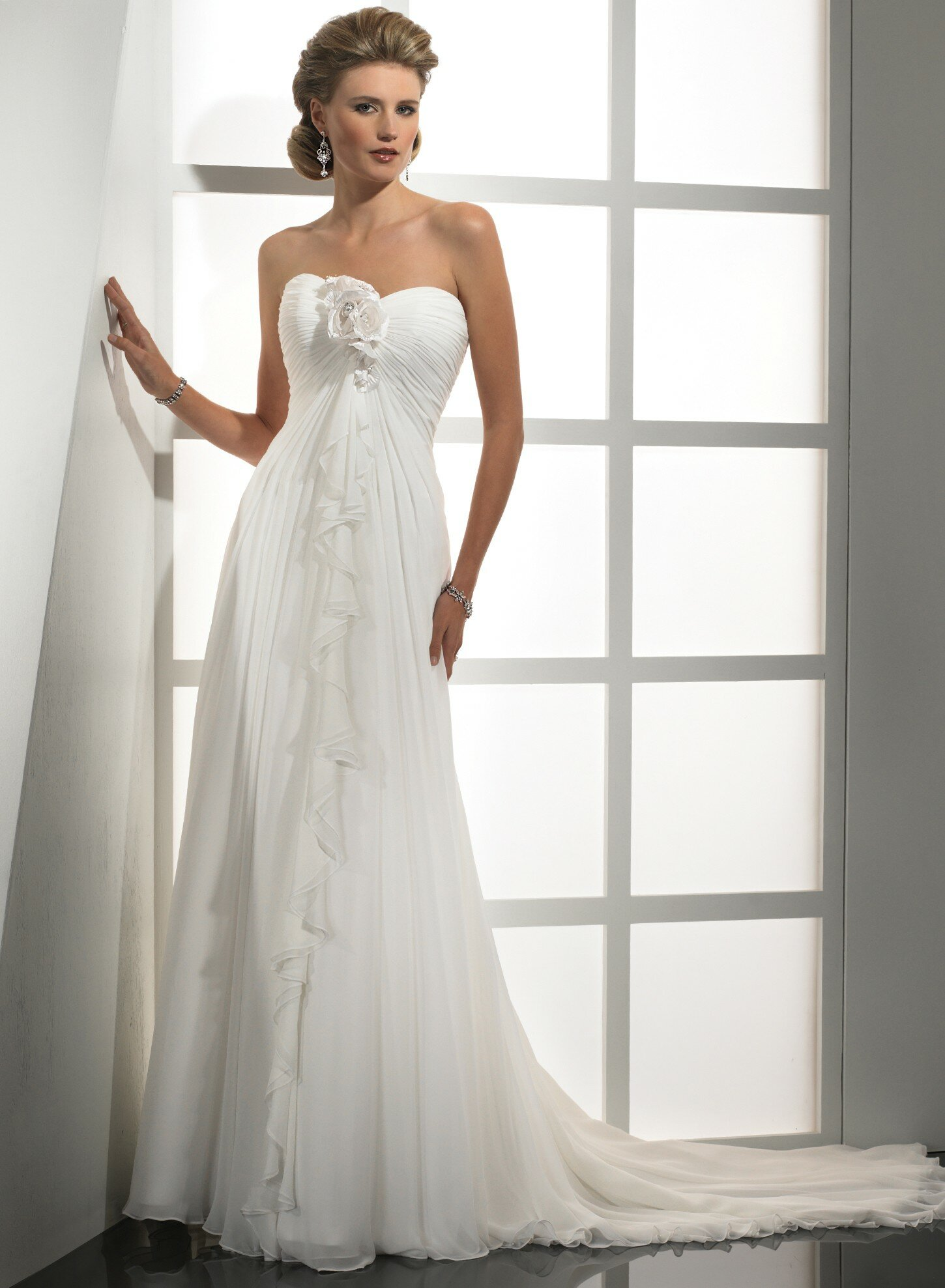A line chiffon wedding dresses: Pictures ideas, Guide to ...
