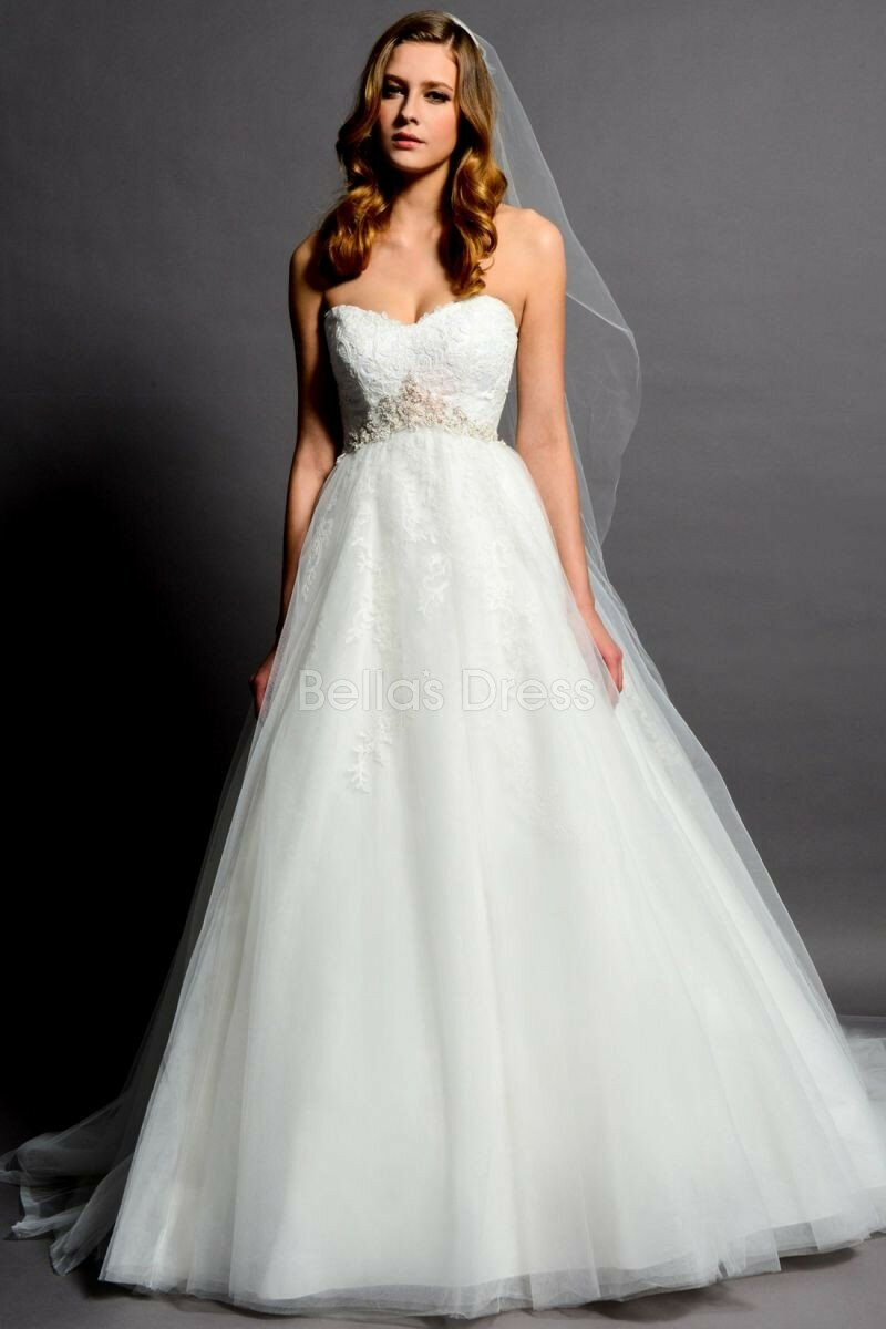 A Line Empire Waist Wedding Dresses Photo 1