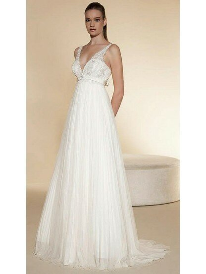 A Line Empire Waist Wedding Dresses Photo 4
