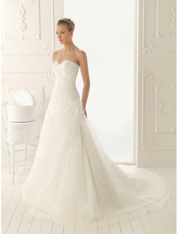 A Line Organza Wedding Gowns