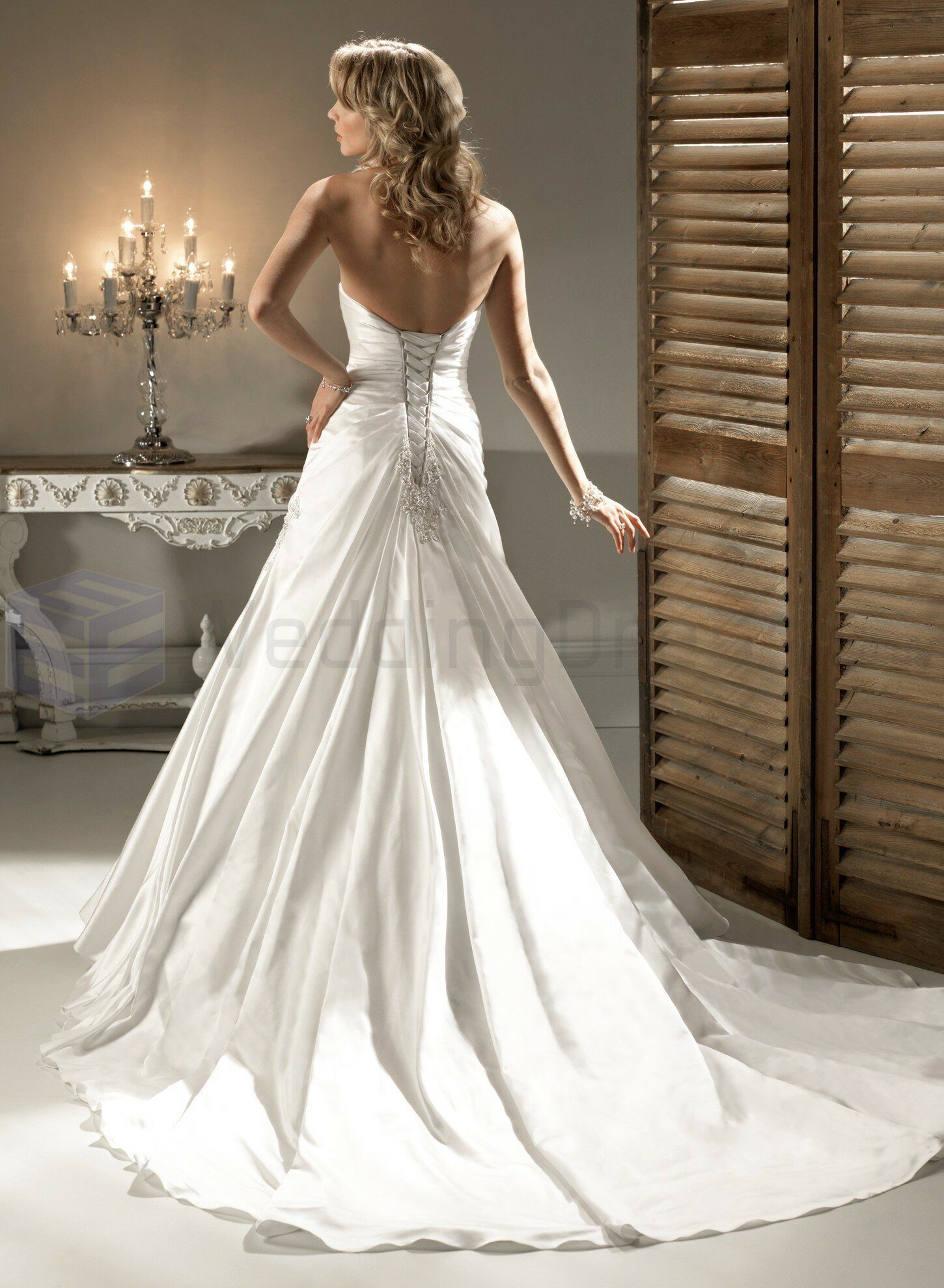 A line satin wedding dresses Photo - 1