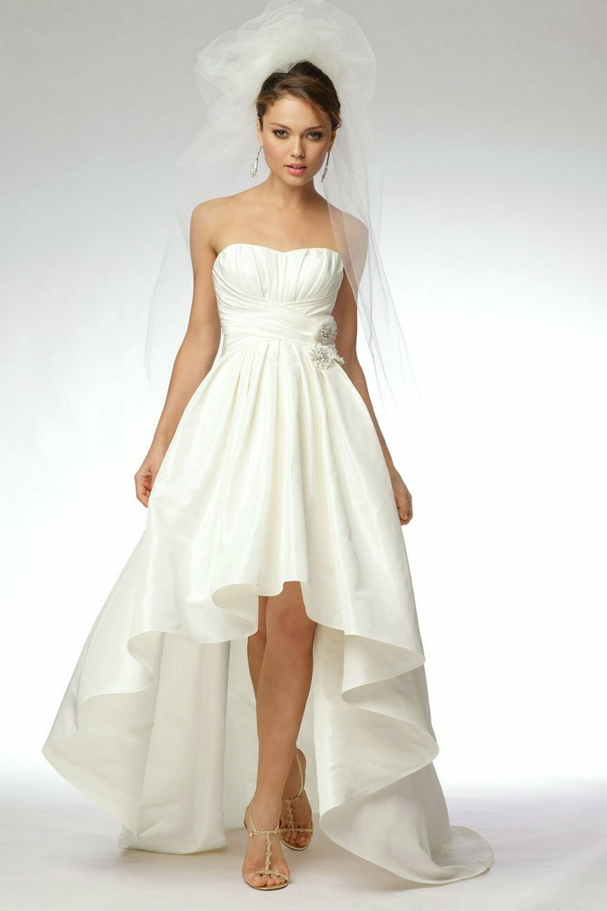 A line short wedding dresses Photo - 1