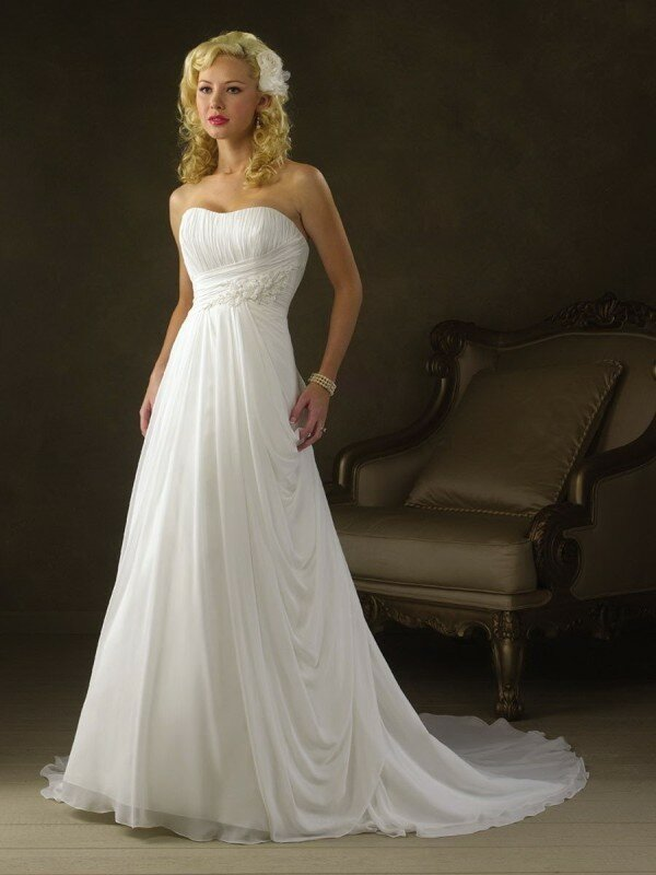 A line style wedding dresses Photo - 10