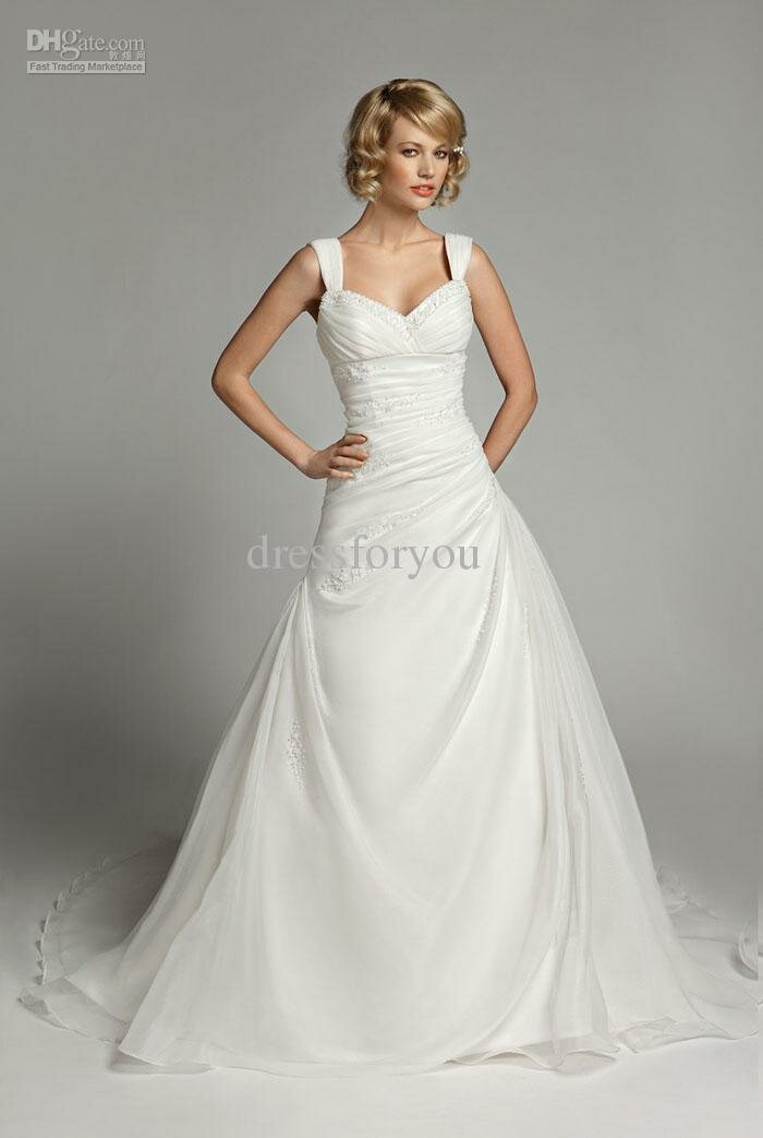A line style wedding dresses Photo - 6