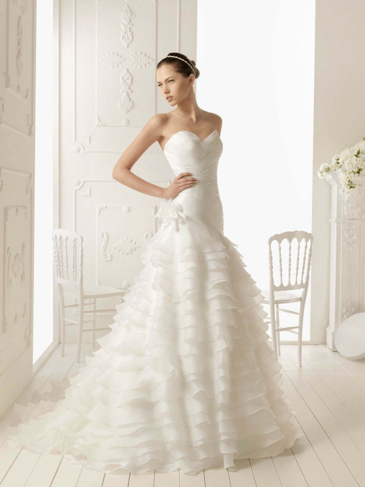 A line style wedding dresses Photo - 7