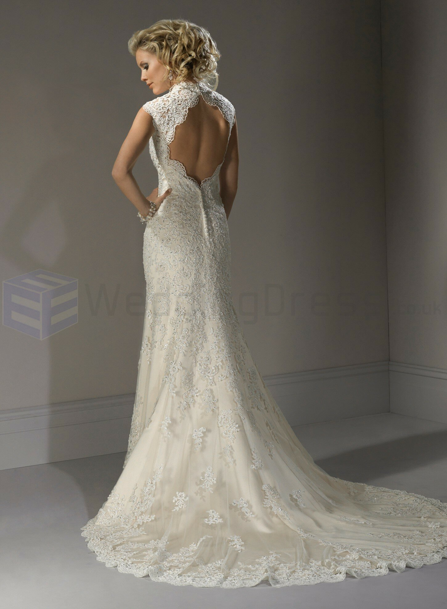 A line sweetheart lace wedding dresses Photo - 2