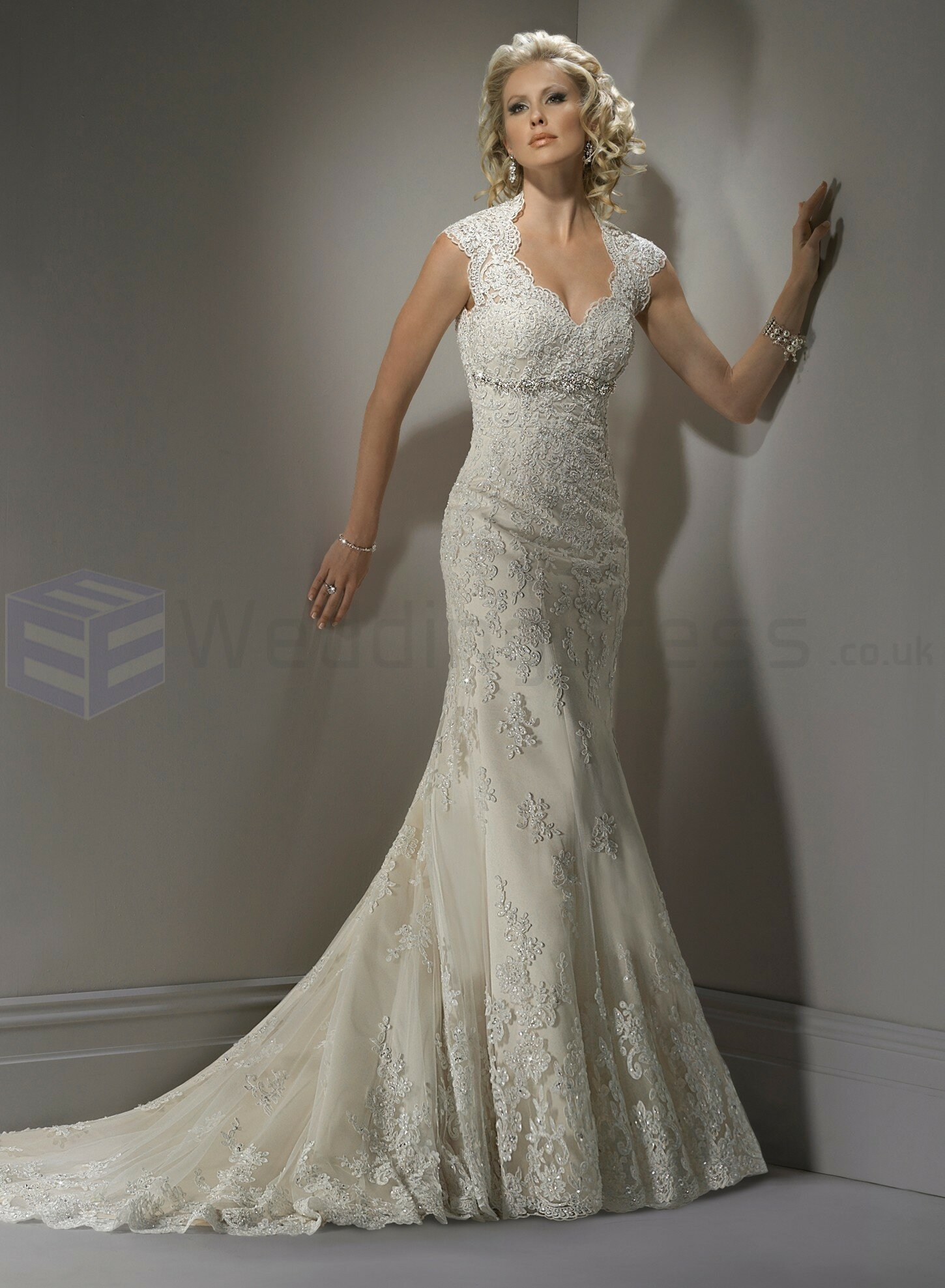 A line sweetheart lace wedding dresses Photo - 3