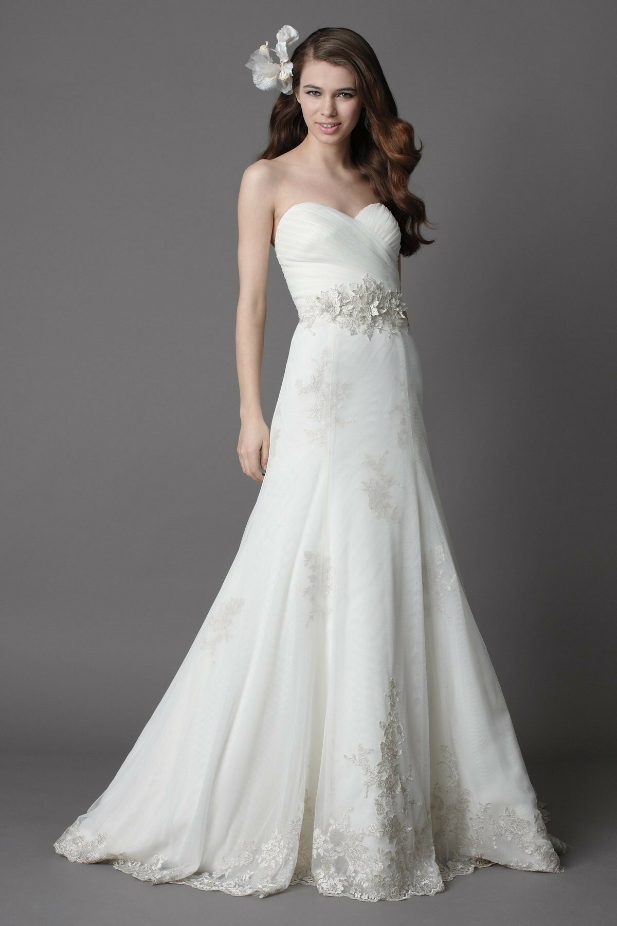 A line sweetheart lace wedding dresses Photo - 5