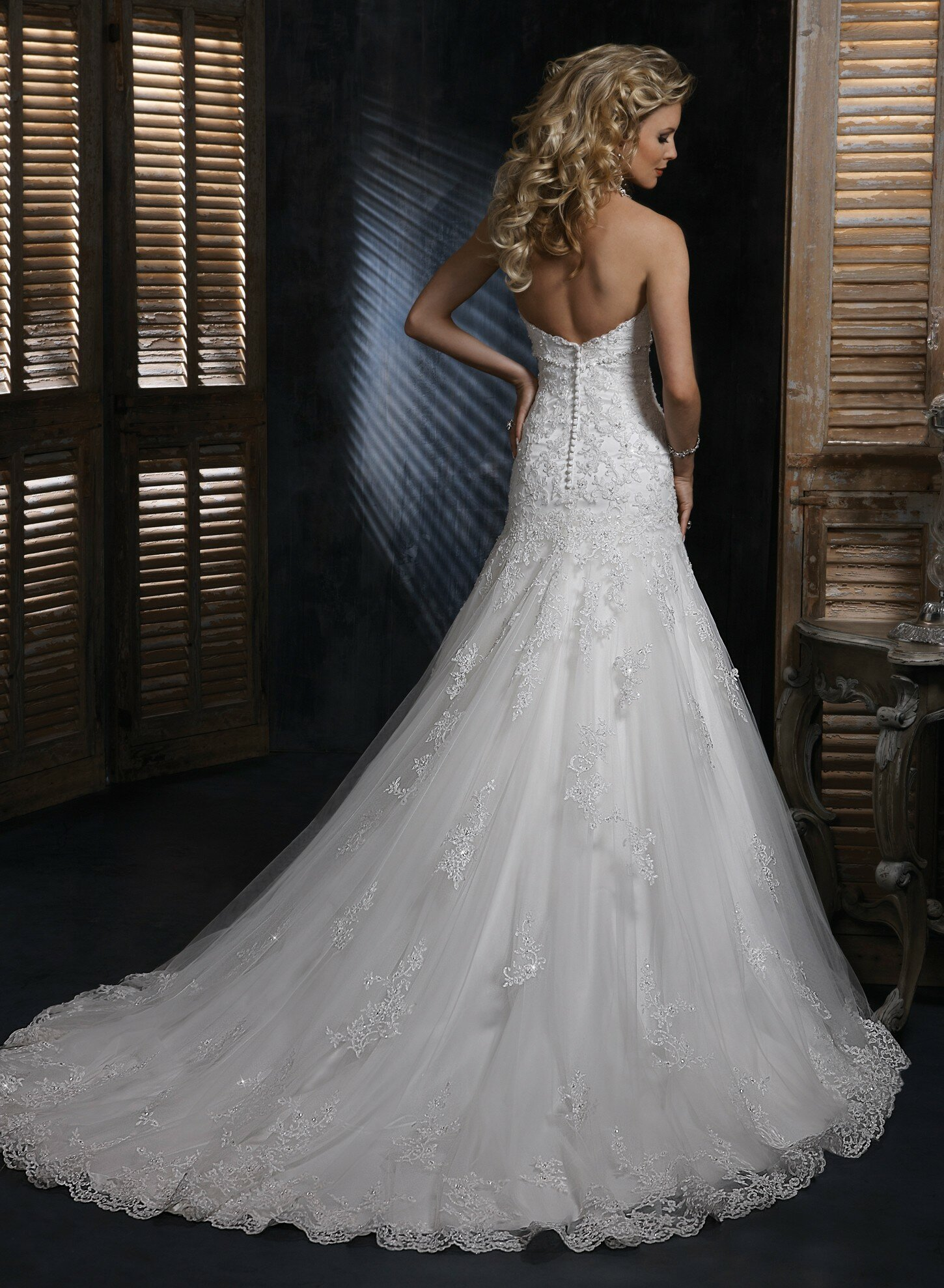 A line sweetheart lace wedding dresses Photo - 8