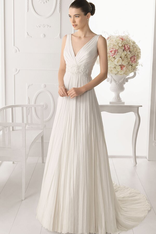 a line v neck wedding dresses pictures ideas guide to