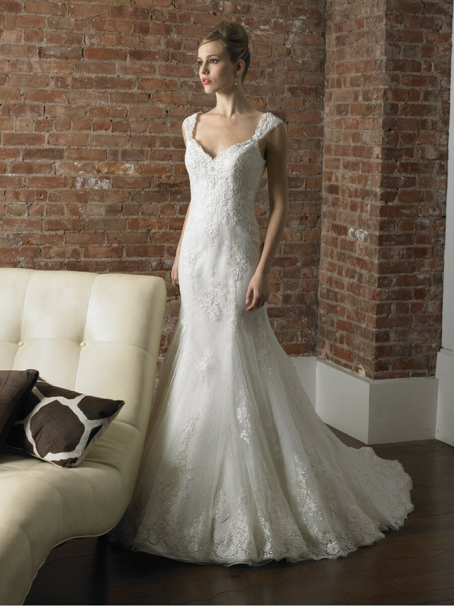 A line wedding dresses with cap sleeves pictures ideas for Capped sleeves wedding dress