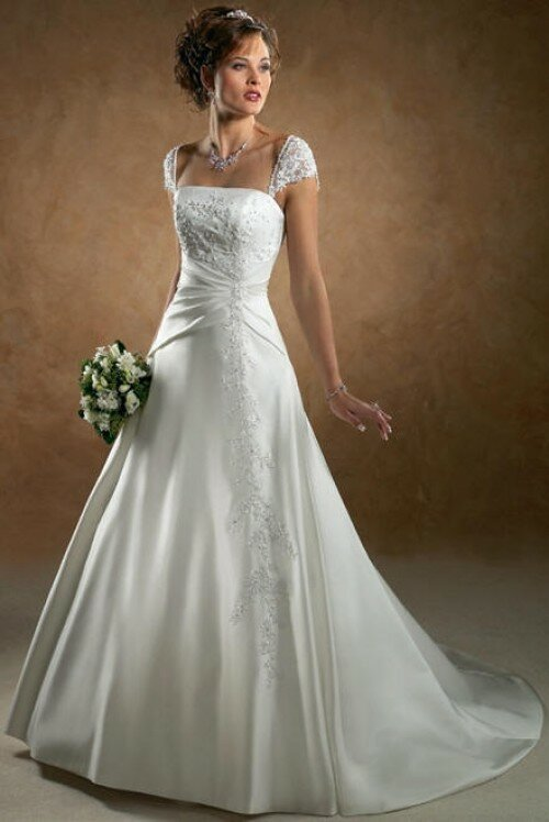 A line wedding dresses with straps: Pictures ideas, Guide to buying ...