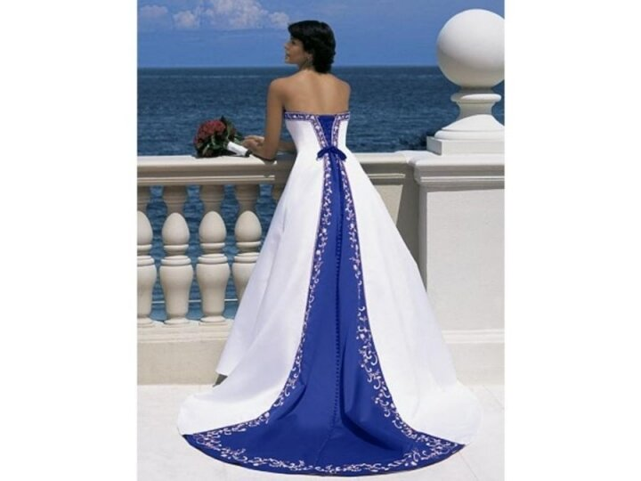 Alfred angelo blue wedding dresses Photo - 1