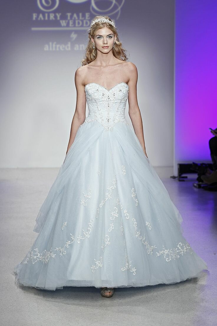 Alfred angelo blue wedding dresses Photo - 9