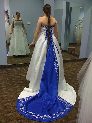 Alfred angelo blue wedding dresses Photo - 10
