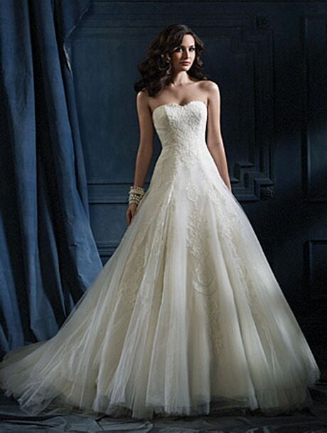 Alfred angelo blue wedding dresses Photo - 2