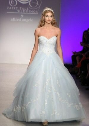 Alfred angelo blue wedding dresses Photo - 7