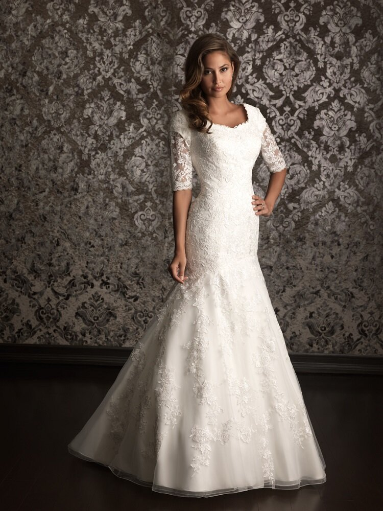 Modest conservative wedding dresses pictures