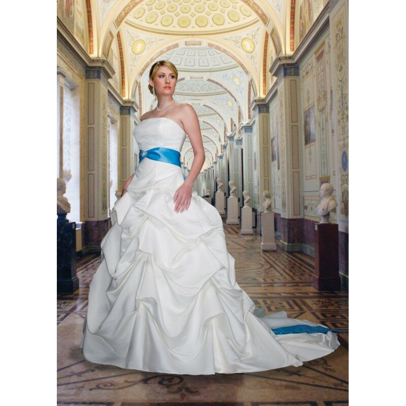 Baby blue and white wedding dresses pictures ideas guide for Baby blue wedding dress