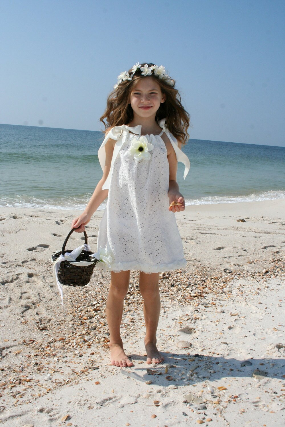 Beach wedding flower girl dresses pictures ideas guide for Flower girl dress for beach wedding