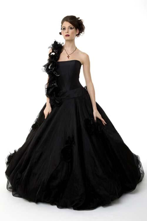 Beautiful Black Wedding Dresses Photo 1