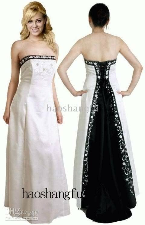 Black white and silver wedding dresses pictures ideas for Silver and white wedding dresses