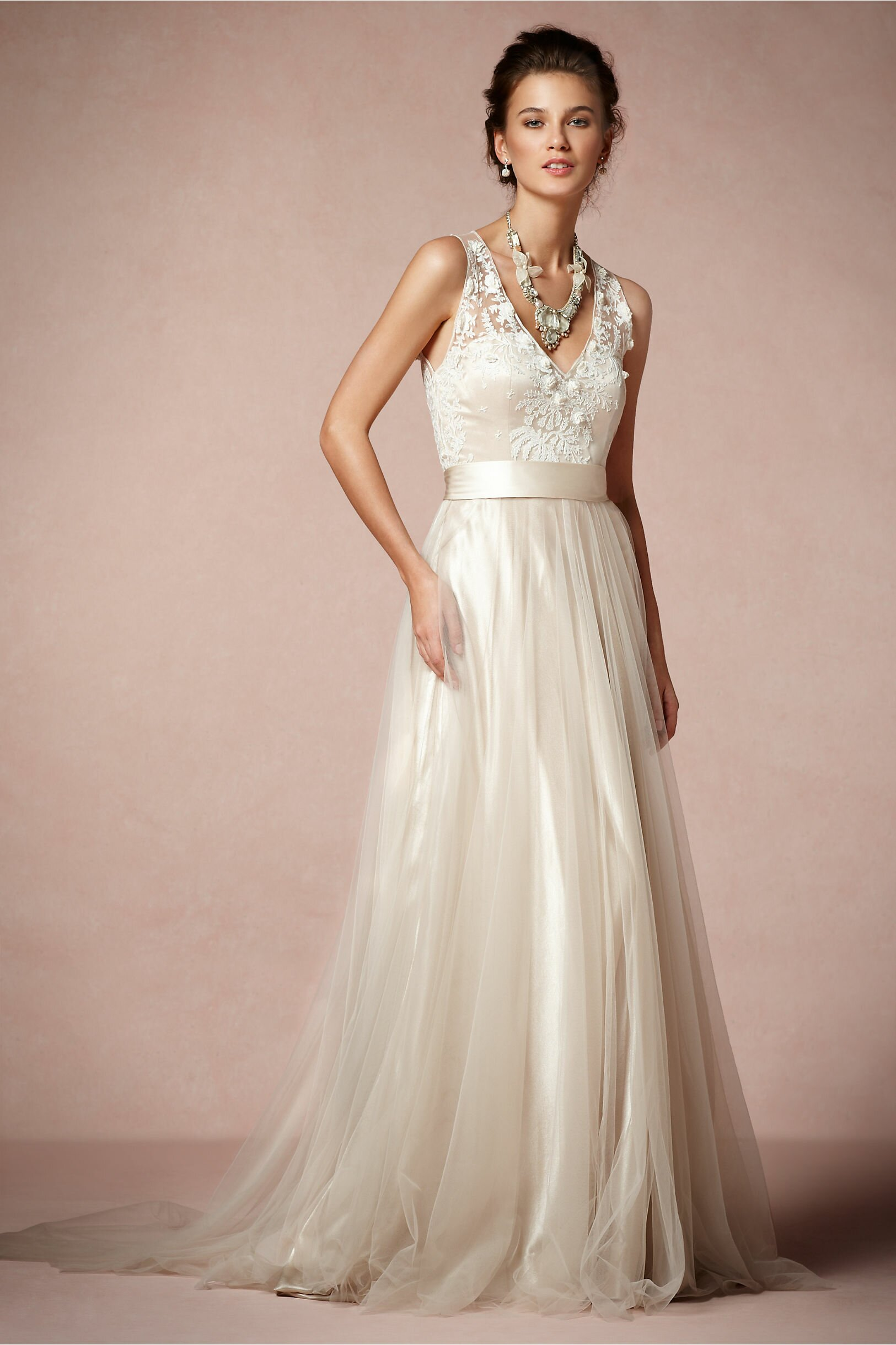 Blush Tulle wedding dresses: Pictures ideas, Guide to buying ...