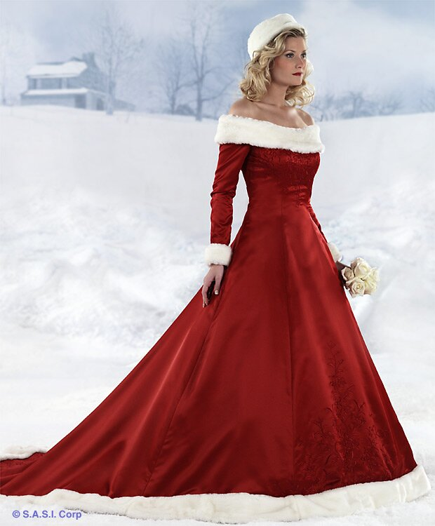 Bridesmaid Dresses For Winter Wedding Photo