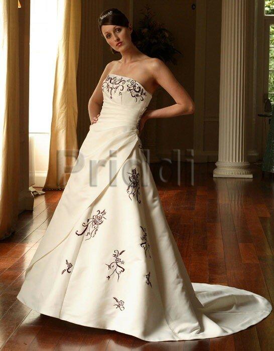 Burgundy Wedding Dresses With Ivory Uk
