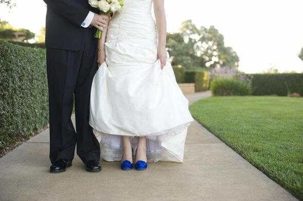 b7db18380086 Colored shoes with wedding dresses  Pictures ideas
