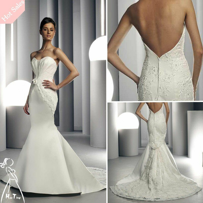 Lace low back wedding dresses pictures ideas guide to for Lace low back wedding dress