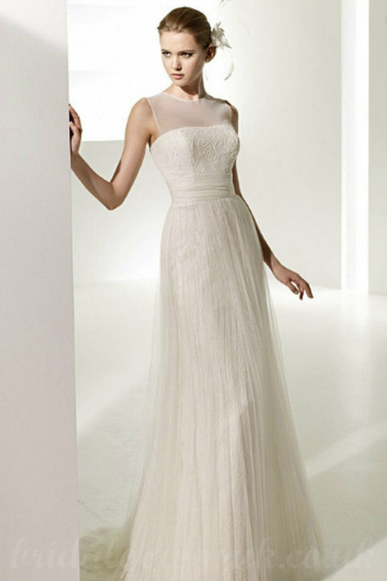 Lace simple wedding dresses Photo - 6